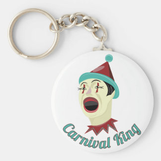 Carnival King Basic Round Button Keychain
