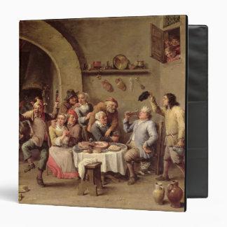 Carnival: 'Le Roi Boit', 1690 (oil on copper) Binder
