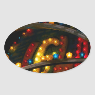 Carnival Lights Oval Sticker