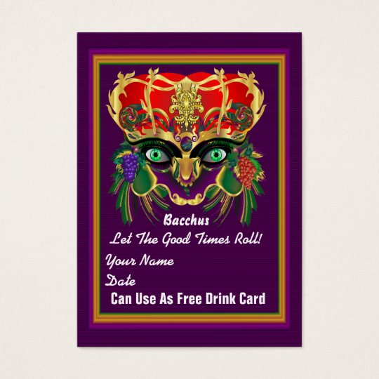 Carnival Mardi Gras Throw Card Please View Notes