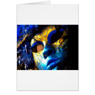 Carnival masck venice card