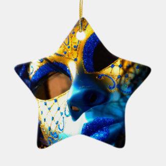 Carnival masck venice ceramic ornament
