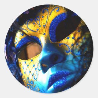 Carnival masck venice classic round sticker