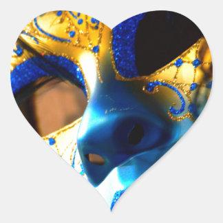 Carnival masck venice heart sticker