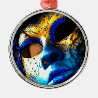Carnival masck venice metal ornament