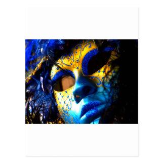 Carnival masck venice postcard