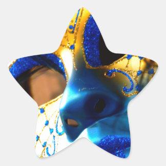 Carnival masck venice star sticker