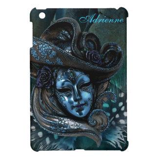 Carnival Mask-Blue Damask iPad Mini Case