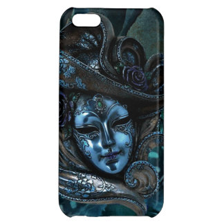 Carnival Mask-Blue Damask iPhone 5 case