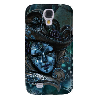 Carnival Mask - Blue Damask Samsung Galaxy S4 Case