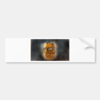 carnival mask bumper sticker