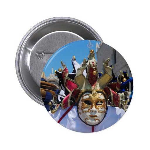 Carnival mask Button