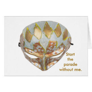 Carnival Mask Greeting Card