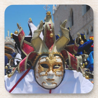 Carnival Mask Cork Coaster