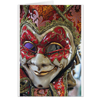 Carnival Mask Design Greeting Card
