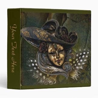 Carnival Mask - Green N Gold Binder