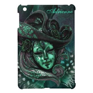 Carnival Mask-Jade Damask iPad Mini Case