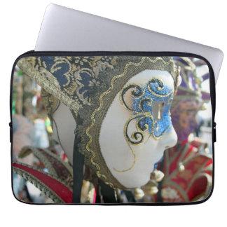 Carnival mask laptop sleeve