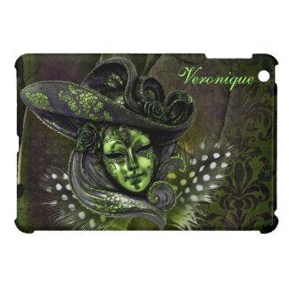Carnival Mask- Peridot Damask iPad Mini case