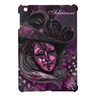 Carnival Mask-Pink Damask iPad Mini Case