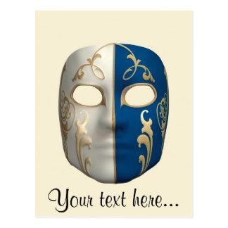 Carnival Mask Postcard