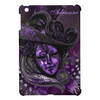 Carnival Mask-Purple Damask iPad Mini Case