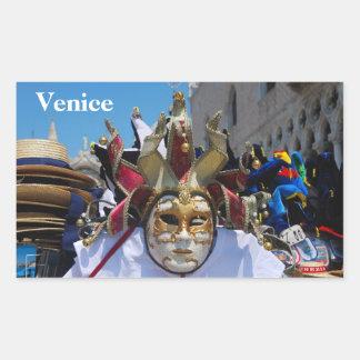 Carnival mask Rectangle Sticker