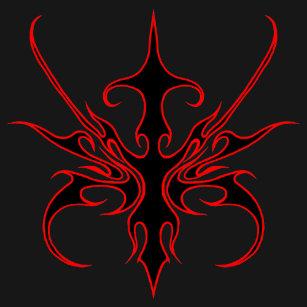 Black Red Tribal Tattoo T Shirts T Shirt Design Printing Zazzle