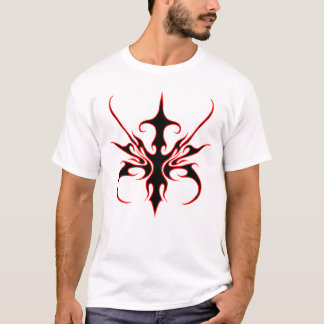 Carnival Mask Tribal Tattoo - black and red T-Shirt