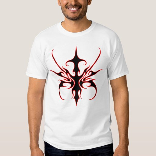 Carnival Mask Tribal Tattoo - black and red white Tees