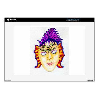 "Carnival Mask Watercolor 2 15"" Laptop Skin"