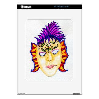 Carnival Mask Watercolor 2 iPad Skins