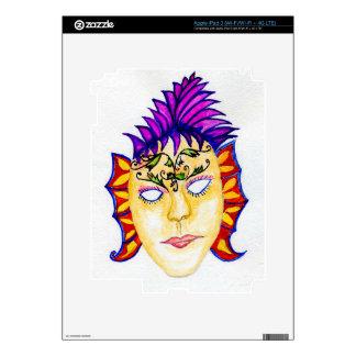 Carnival Mask Watercolor 2 Skin For iPad 3