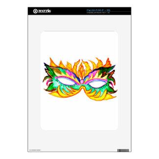 Carnival Mask Watercolor iPad Skins