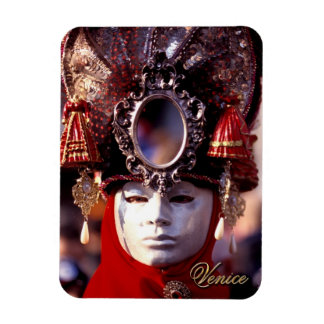 Carnival Mask With Oval Mirror Magnet