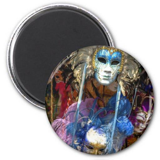 Carnival Masks 2 Inch Round Magnet