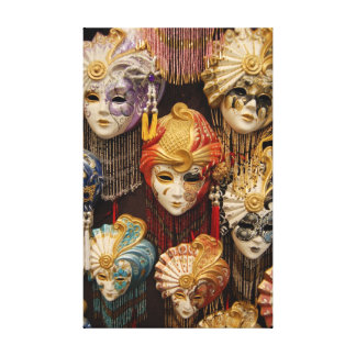 Carnival Masks in Venice Gallery Wrapped Canvas