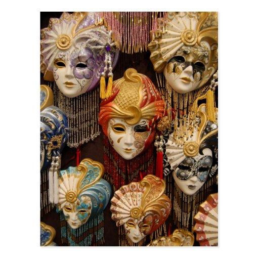 Carnival masks in venice italy post cards zazzle - Mascaras de carnaval de venecia ...