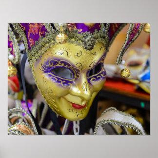 Carnival Masks in Venice Italy Poster