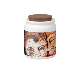 Carnival Masks & Music Candy Jars