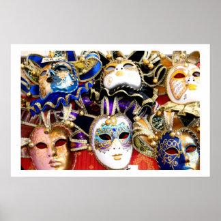 Carnival Masks Poster