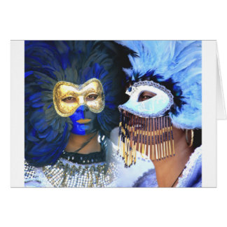 carnival masks, venice greeting cards