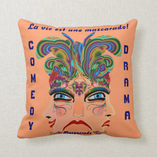 Carnival Masquerade Comedy Drama View Hints Plse Pillow