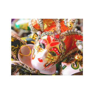 Carnival Masquerade Masks in Venice Italy Canvas Print
