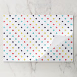 """Carnival Multi Small Dots Tearaway Paper Placemat<br><div class=""""desc"""">Looking for a way to easily dress up your birthday party table? This tear away paper placemat is just the product. Place mat features bright and cheery carnival dots.  Coordinates with other items in our Pinwheel Carnival Party Supply Collection.</div>"""