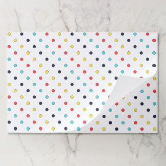 Carnival Multi Small Dots Tearaway Paper Placemat