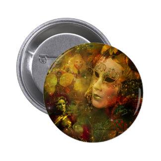 Carnival - New Orleans Mardi Gras Splendor Pinback Button