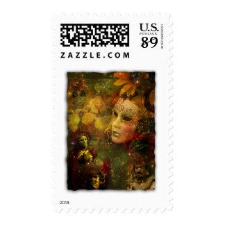 Carnival - New Orleans Mardi Gras Splendor Postage Stamp