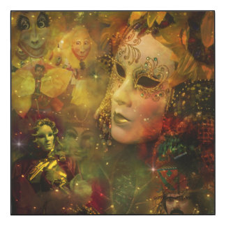 Carnival - New Orleans Mardi Gras Splendor Wood Print
