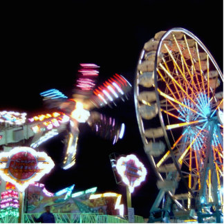 Carnival night fair ride photograph party picture! photo sculpture